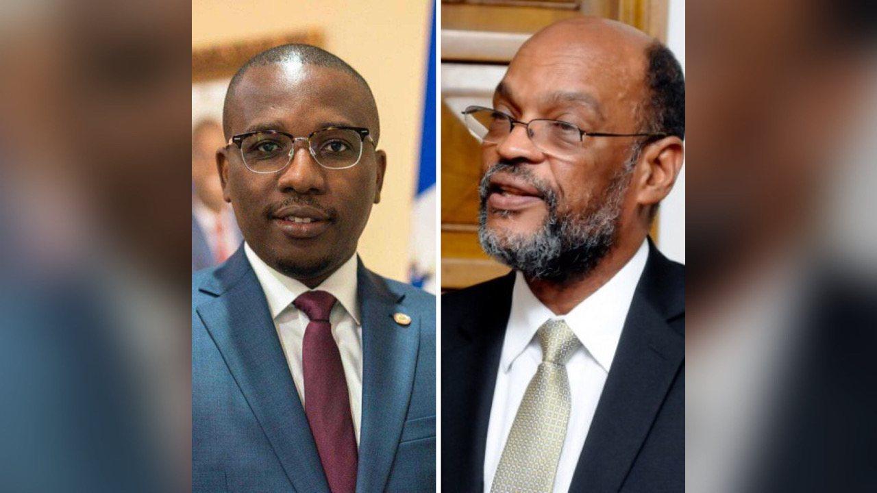Le ministre des affaires étrangères Claude Joseph félicite le nouveau premier ministre Ariel Henry