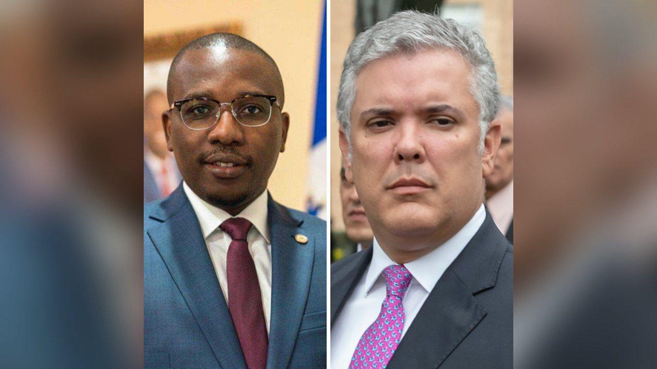 Haiti: Le Premier ministre a.i Claude Joseph s'est entretenu avec le Président colombien