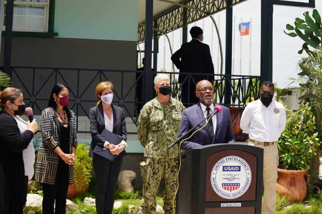 Ariel Henry salue la visite de l'administratrice de l'USAID en Haïti