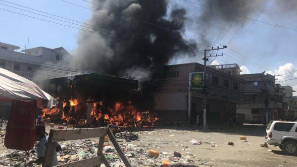 Okap: Yon ponp gaz Nasyonal ki pran dife lakoz anpil dega