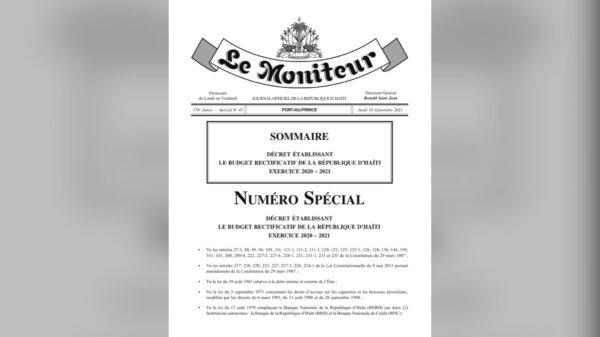 L'exécutif a publié un budget rectificatif pour l'exercice fiscal qui prend fin le 30 septembre