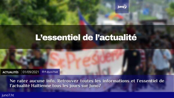 Haïti: l'essentiel de l'actualité du mercredi 1er septembre 2021