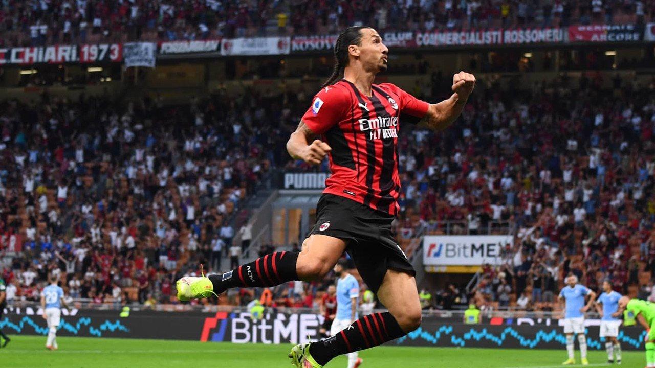 Zlatan de retour et buteur, le Milan AC s'impose contre la Lazio