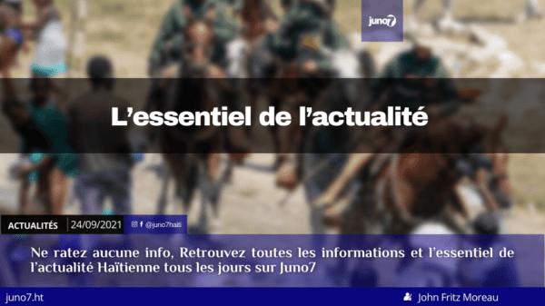 Haïti: l'essentiel de l'actualité du vendredi 24 septembre 2021
