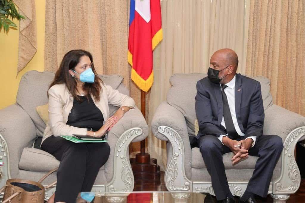 La Sous-secrétaire d'État Uzra Zeya a rencontré le PM Ariel Henry