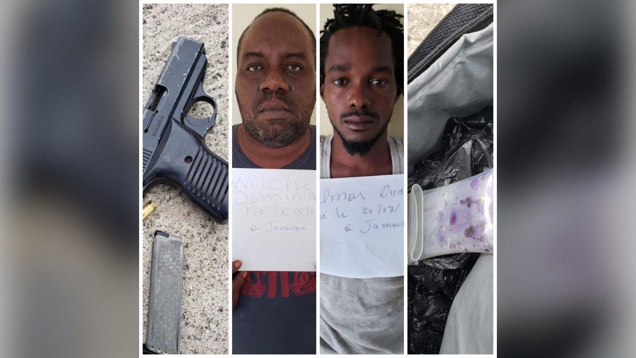 BLTS-SUD: deux arrestations dont un jamaïcain pour détention d'armes et Trafic Illicite de stupéfiants