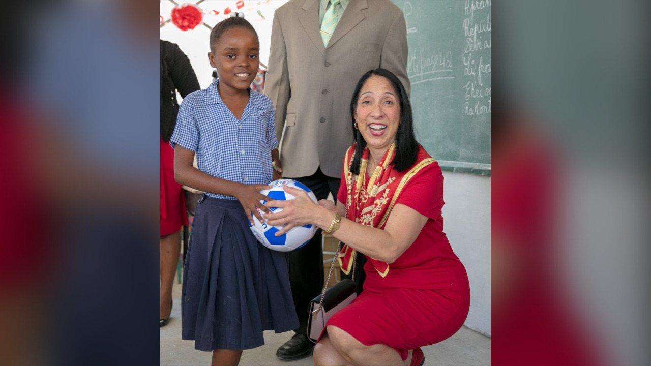 L'Ambassadeur des Etats-Unis Michèle Sison en fin de mission en Haïti