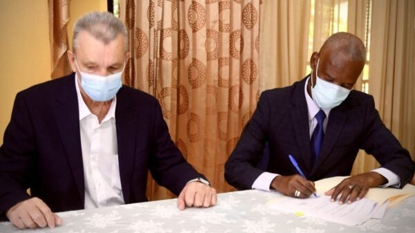 Signature du contrat lié à la reconstruction du pont Estimé de la Grand'Anse